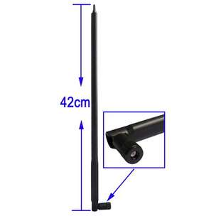 Antenna for Router Network 2.4GHz 12dbi RP-SMA - S-PC-1810 - Black