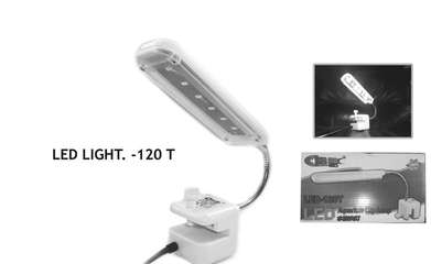 Led-120T Lampu Aquarium Sea Star Aquarium Clip Lamp 3 w (Black)