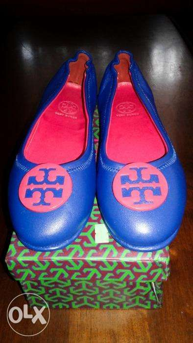 50d42027748 For Sale Tory Burch Minnie Travel Ballet Flat RedBlue in San Pedro ...