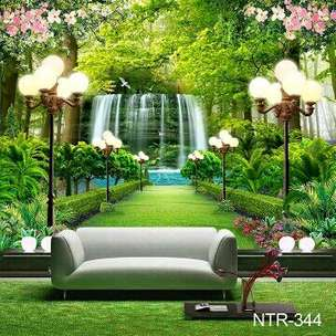 Wallpaper Dinding Custom 3D Air Terjun
