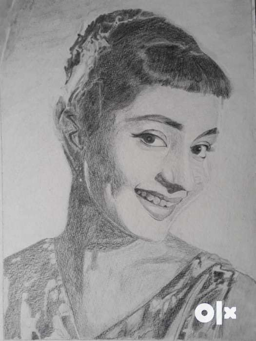 Mark as favorite show only image smiling woman pencil sketch