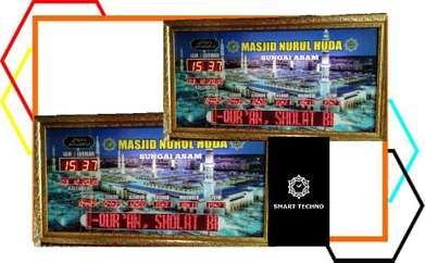 Dijual jam digital masjid type advanced(ukuran 110x60cm)