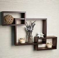 Wall decoration wooden rack