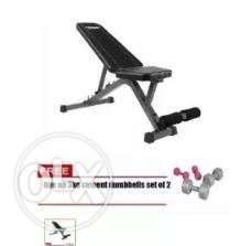 Fitness Gear Utility Weight Bench Press Adjustable Free 3kg Live Up
