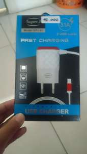 charger merk super j 2 usb cable 3.1A