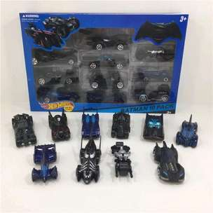 Diecast Hotwheel Set 10 Pcs Mobil Batman Batmobile