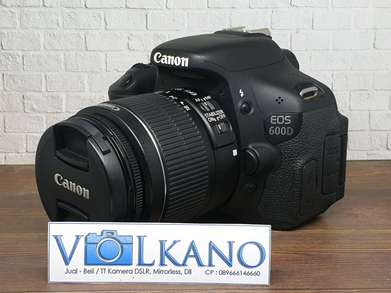 Canon 600D kit 18-55mm Sc 5rb Fullset Mulusss