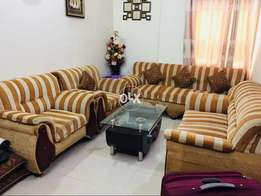 7 seater sofa set with glass table