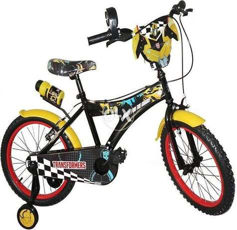 "Hasbro Transformer 14"" bumble bee bicycle wuth racing handle sounds"
