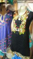 Ladies cotton embroidery shirts
