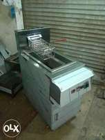 Single fryer 2 tube automatic and digital
