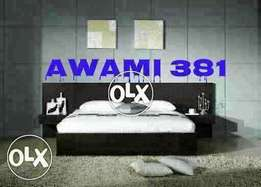 Awami bed with side new many designs