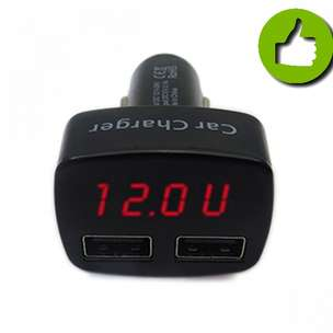 New Item:Smart Car Charger Casan HP Mobil Voltmeter Thermometer 158Pe9