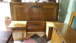 Brand new bed set with dressing bail carving deisgn