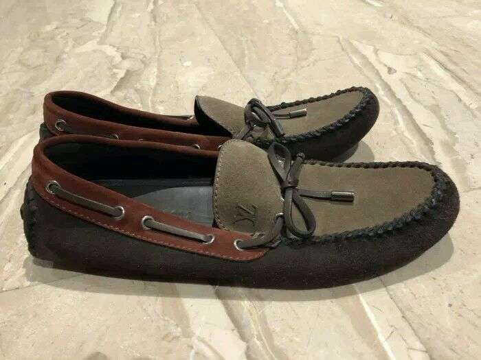 Sepatu Sneakers LV Louis Vuitton Loafer brown sz 7 98b3bca1df