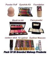 Combo Pack of 20 Branded Face Beauty Bridal Makeup set Products Box
