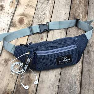 WAISTBAG Claver Paling Laris Ready Black and Navy
