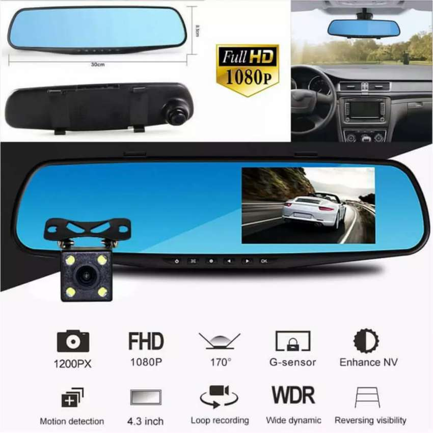 In Car Camera >> Car Camera Dvr Front Rear Mirror Cctv Kamera Mobil Depan