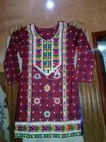 Ajrak hand embroided