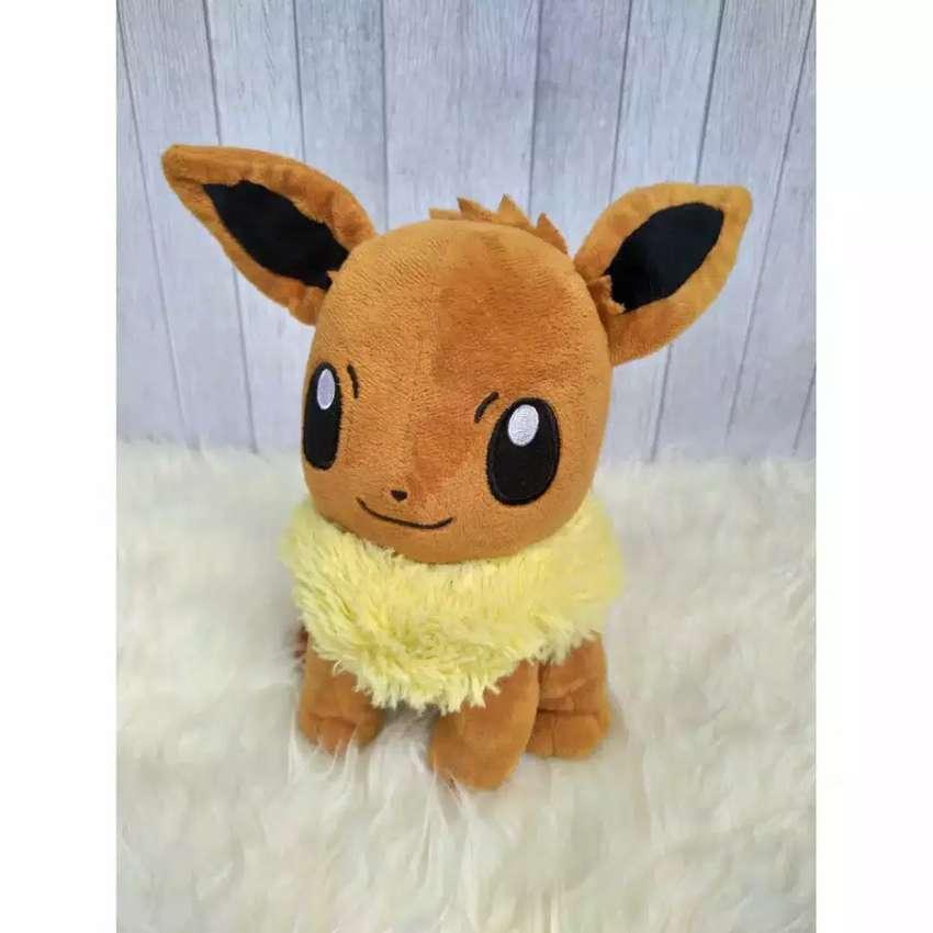 Boneka Pokemon Eevee Nintendo 3rd Round Original Boneka Mainan Anak 763700454