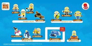 Happy Meal Toys edisi Despicable Me 3 fullset