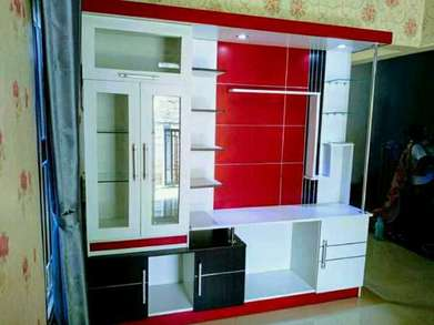 furniture minimalis rak tv kaca modern