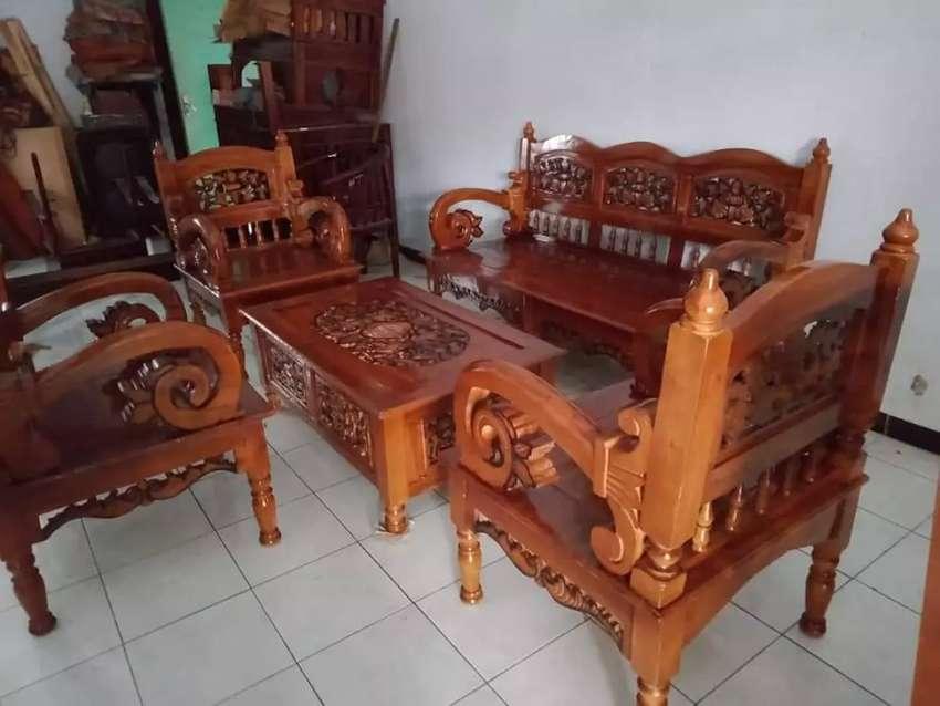 Kursi Kayu Bekas Jogja  kursi tamu arimbi kayu jati ukiran jepara mebel 750997311