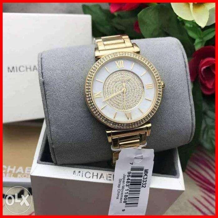 58d36c954455 ORIGINAL MICHAEL KORS Catlin Mother of Pearl Dial Gold-plated Ladies ...