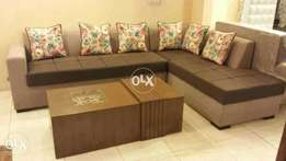 new modern sofa corner style in fabric joot | six seater without Table