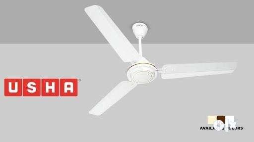 White usha 3 blade ceiling fan advertisement tiruchirappalli show only image white usha 3 blade ceiling fan advertisement mozeypictures Choice Image