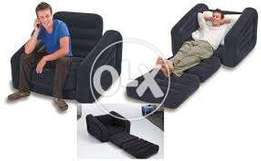 """68565 intex inflatable single pull out chair (size:42""""/87""""/26"""")."""