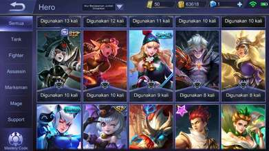 Akun ML Sultan, Saber legend, epic limit banyak