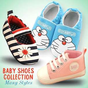 Baby Shoes Collection_ Styles Size Available