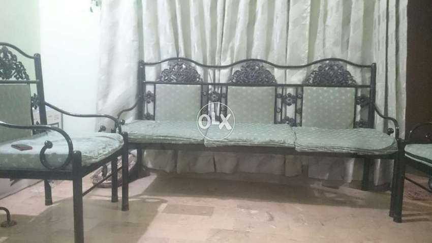 Fantastic Iron Sofa Set 5 Seater For Sale Ibusinesslaw Wood Chair Design Ideas Ibusinesslaworg