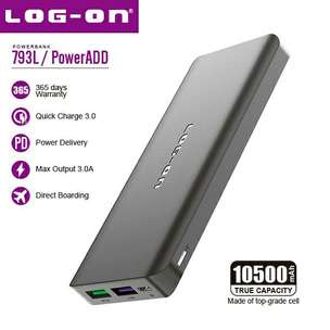 Powerbank Log On 10500 mah Qualcomm 3.0