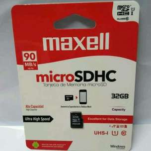 MicroSDHC Maxell 32GB Class 10 UHS-1 Speed Up To 90MB/s