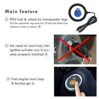 "Push Start Button ""+ RFID Tags"" Keyless Start AC + Engine"