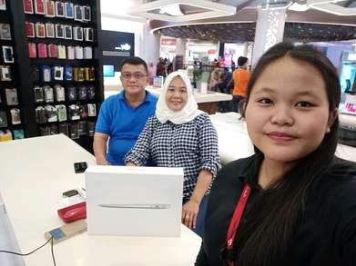 macbook air 2017 penyimpanan 128Gb Dp 10% iBox atrium