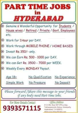 Part time jobs for students in hyderabad without investment global trade and investment nigeria