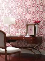 Circle design wallpaper for home. light color wooden flooring options