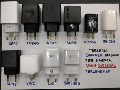 Ready Charger semua Merek : Acer Xiaomi Sony Iphone Asus Fastcharger