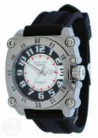 Omax HS568 Men's Stainless Steel Silicone Strap