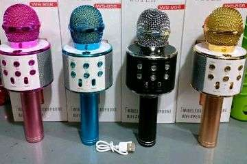 Mic Blutooth speaker WS 858 with 5 voice unik
