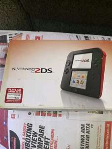 Nintendo 2DS black red Fullset