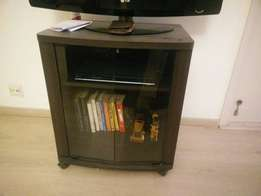 Used, Black Wooden TV Stand Wit... for sale  Gurgaon
