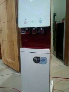 Dispenser Polytron 3 kran hydra panas dingin normal galon bawah air