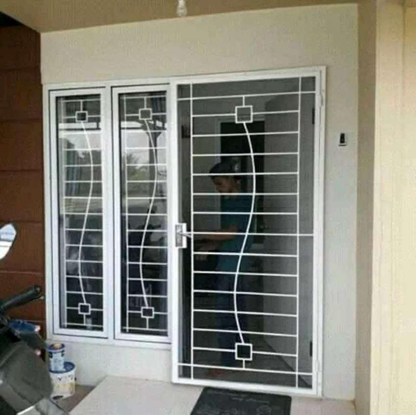 Pintu Dobel Besi Minimalis Desain Modern Konstruksi Dan Taman 762120752