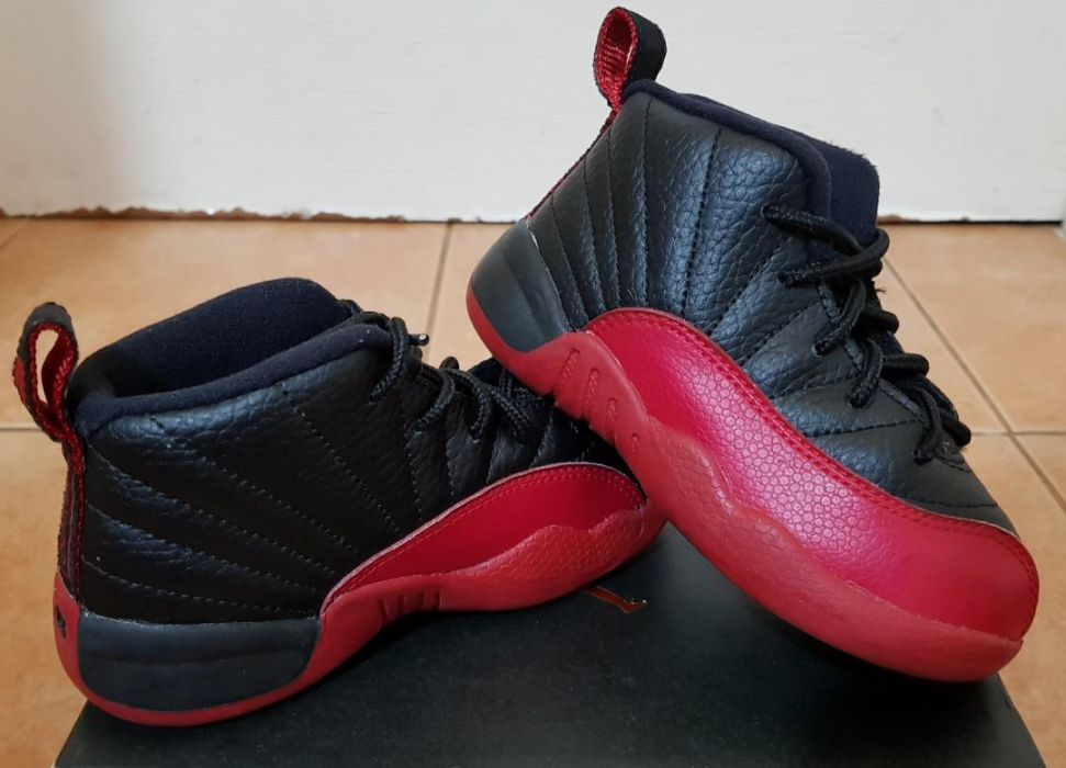 save off 48bdd 2ff97 Good as New Authentic Jordan 12 Flu Game Size 8c (Toddler ...