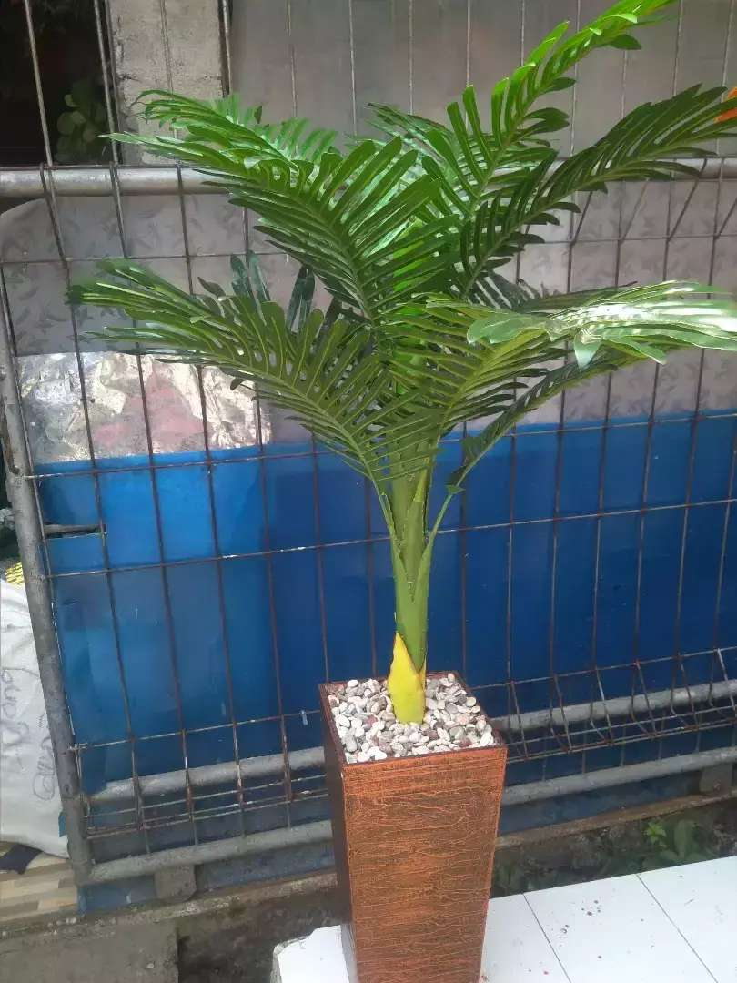 Bunga Hias Plastik Pohon Palem Konstruksi Dan Taman 766882376