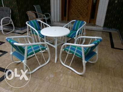 beautiful look chair garden use chair set with small cute stylish tabl